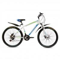 """Велосипед Premier Captain Disc 17"""" белый с голубым-зеленым-черным (TI-14284)"""