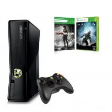 Игровая консоль Microsoft X-Box SLIM + HALO 4 + TOMB RAIDER (XBOX360250H4TREU)