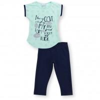Набор детской одежды Breeze с лапками (8697-116G-mint)