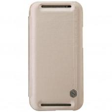 Чехол для моб. телефона для HTC ONE (M8) /Rain Leather Case/Gold NILLKIN (6138243)