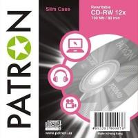 Диск CD-RW PATRON 700Mb 12x Slim Box 10шт (INS-C010)
