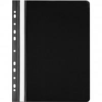Папка-скоросшиватель Axent А4, perforated, black (20шт) (1308-01-А)