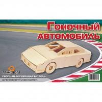 Сборная модель Мир деревянных игрушек Автомобиль гоночный (П143)