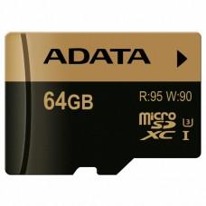 Карта памяти A-DATA 64GB microSD class 10 XPG UHS-I U3 (AUSDX64GXUI3-R)