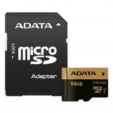 Карта памяти A-DATA 64GB microSD class 10 XPG UHS-I U3 (AUSDX64GXUI3-RA1)