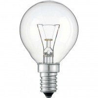 Лампочка PHILIPS E14 60W 230V P45 CL 1CT/10X10F Stan (926000005022)