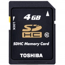Карта памяти TOSHIBA 16GB microSD class 4 (THN-M102K0160M4)