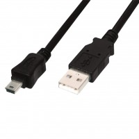 Дата кабель USB 2.0 AM to Mini 5P 1.0m DIGITUS (84127)