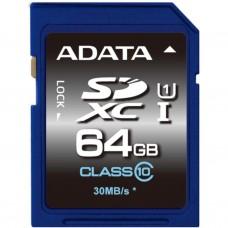 Карта памяти A-DATA 64GB SDXC class 10 UHS-I (ASDX64GUICL10-R)