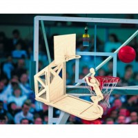 Сборная модель Мир деревянных игрушек Баскетболист (С004)