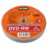 Диск DVD-RW ACME 4.7Gb 4x Cake box 10шт (852965)