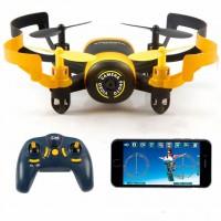 Квадрокоптер JXD 512W yellow 90мм WiFi камера (45096)