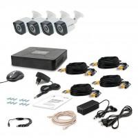 Комплект видеонаблюдения Tecsar 4OUT LIGHT LUX (8872)