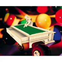 Сборная модель Мир деревянных игрушек Бильярдист (С013)