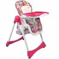 Стульчик для кормления Alexis-Babymix YB602A Pink (18241)