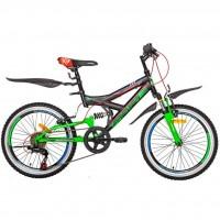 """Велосипед Premier Raptor 20 2017 13"""" черный с зеленым-красным-голубым (SP0002154)"""