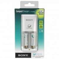 Зарядное устройство для аккумуляторов SONY Compact charger+2xAA 1000mAh (BCG34HS2R)
