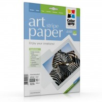 Бумага ColorWay Letter (216x279mm) ART, glossy, stripe (PGA230010SLT)