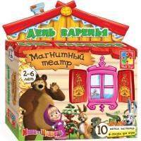 Настольная игра Vladi Toys Магнитный театр Маша и Медведь День варенья (VT3206-05)