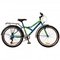 """Велосипед Discovery 24"""" FLINT 14G 14"""" сине-черно-зеленый 2017 (OPS-DIS-24-055)"""
