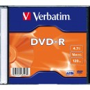 Диск DVD-R Verbatim 4.7Gb 16X SlimBox 1шт MatteSilv AZO (43547-1disk)