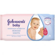 Влажные салфетки Johnson's Baby Нежная забота 56 шт (3574660723212)
